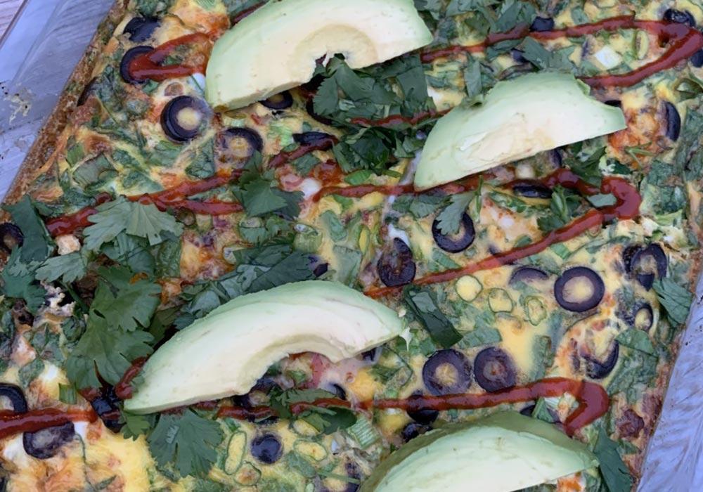 Beef Enchilada Breakfast Bake recipe from Oregon Valley Farm