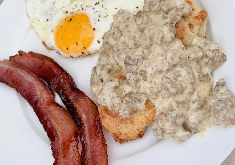 Low Carb Biscuits & Gravy recipe from Oregon Valley Farm