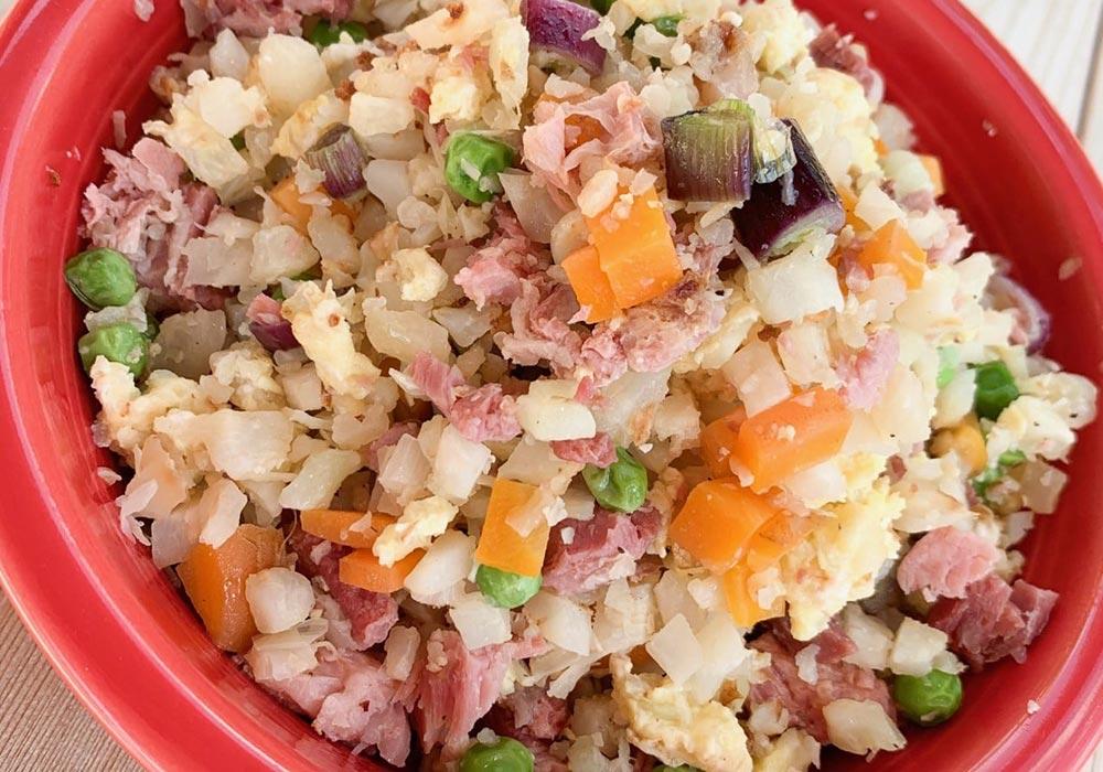 Cauliflower Ham Fried Rice recipe from Oregon Valley Farm