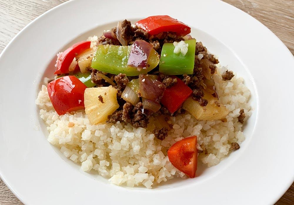 Hawaiian Beef Bowl recipe from Oregon Valley Farm