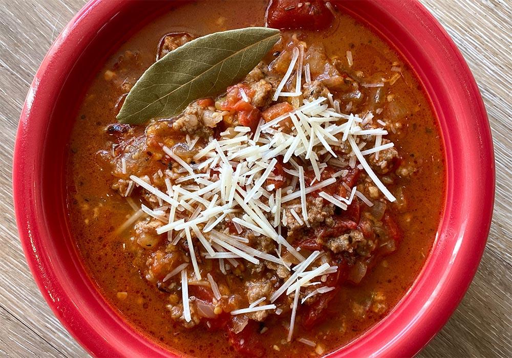 Lasagna Soup recipe from Oregon Valley Farm