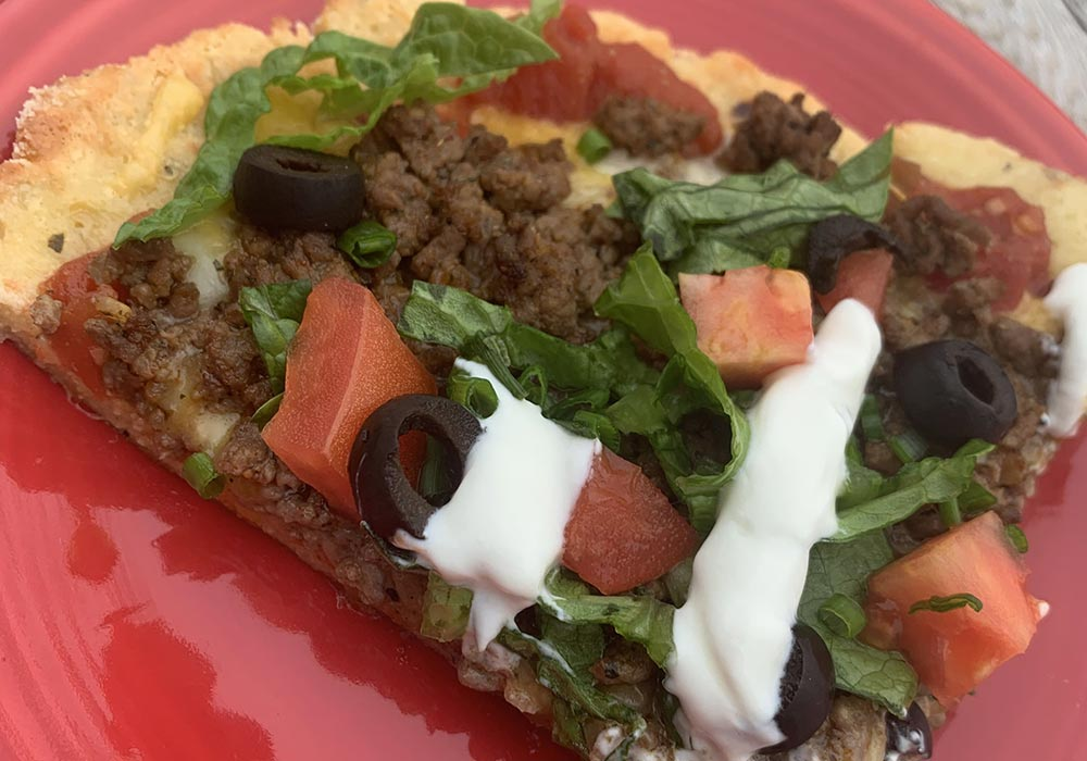 Keto Taco Pizza recipe from Oregon Valley Farm