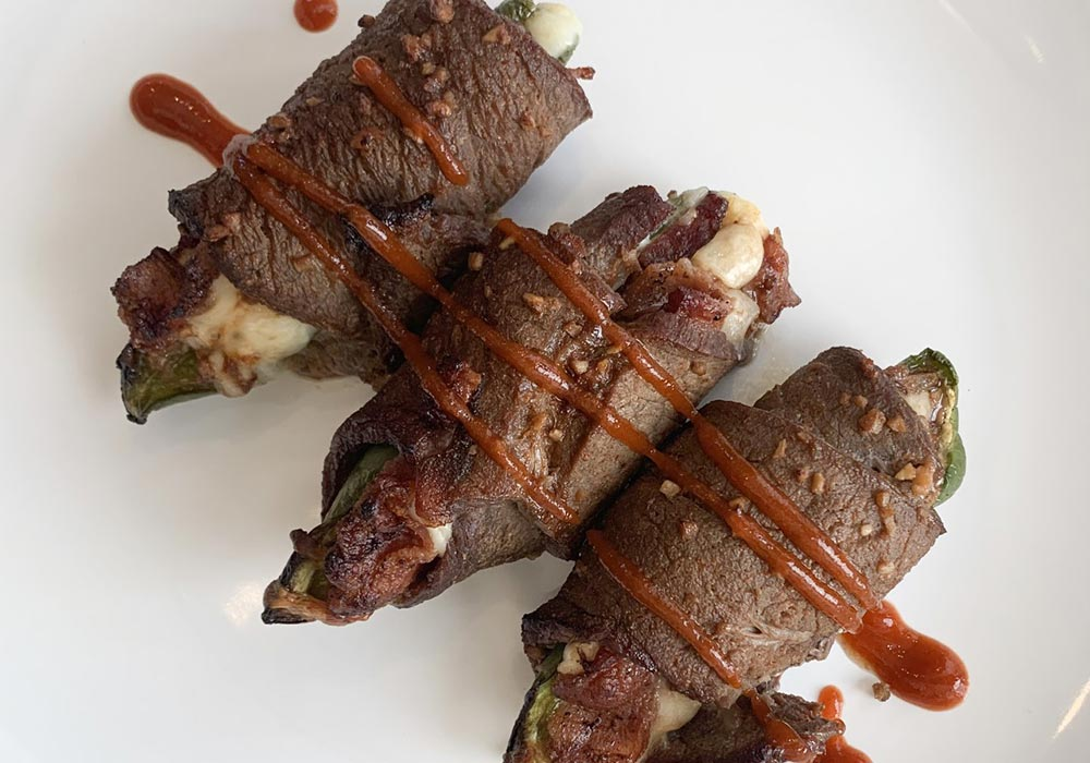 Steak Wrapped Jalapeno Poppers recipe from Oregon Valley Farm