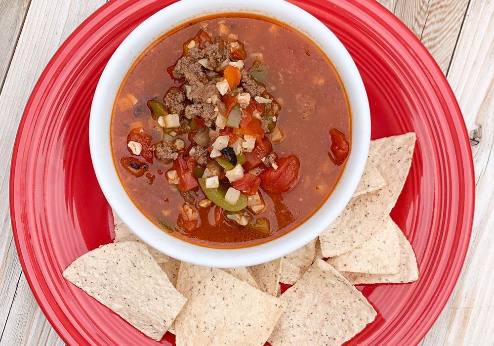 Un-Stuffed Pepper Soup recipe from Oregon Valley Farm