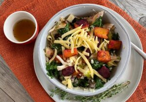 Autumn Shredded Chicken Bowl recipe from Oregon Valley Farm