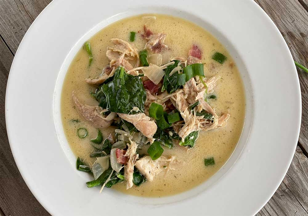 Creamy Crack Chicken Soup recipe from Oregon Valley Farm