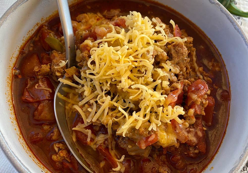 Keto Chili (Instant Pot) Recipe from Oregon Valley Farm