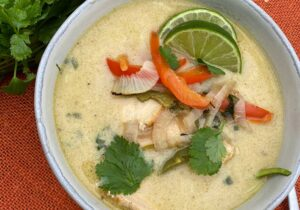Chicken Thai Zoodle Soup (Low Carb, Dairy Free) from Oregon Valley Farm