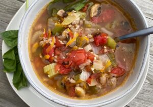 Keto Minestrone Soup Recipe from Oregon Valley Farm