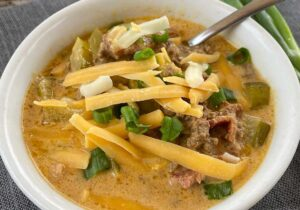 Cheeseburger Bacon Soup in Cream Sauce (Low Carb) Recipe from Oregon Valley Farm