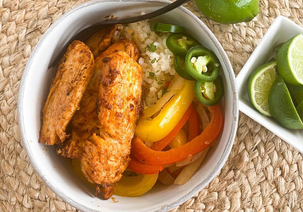 Chicken Fajita Keto Style Recipe from Oregon Valley Farm