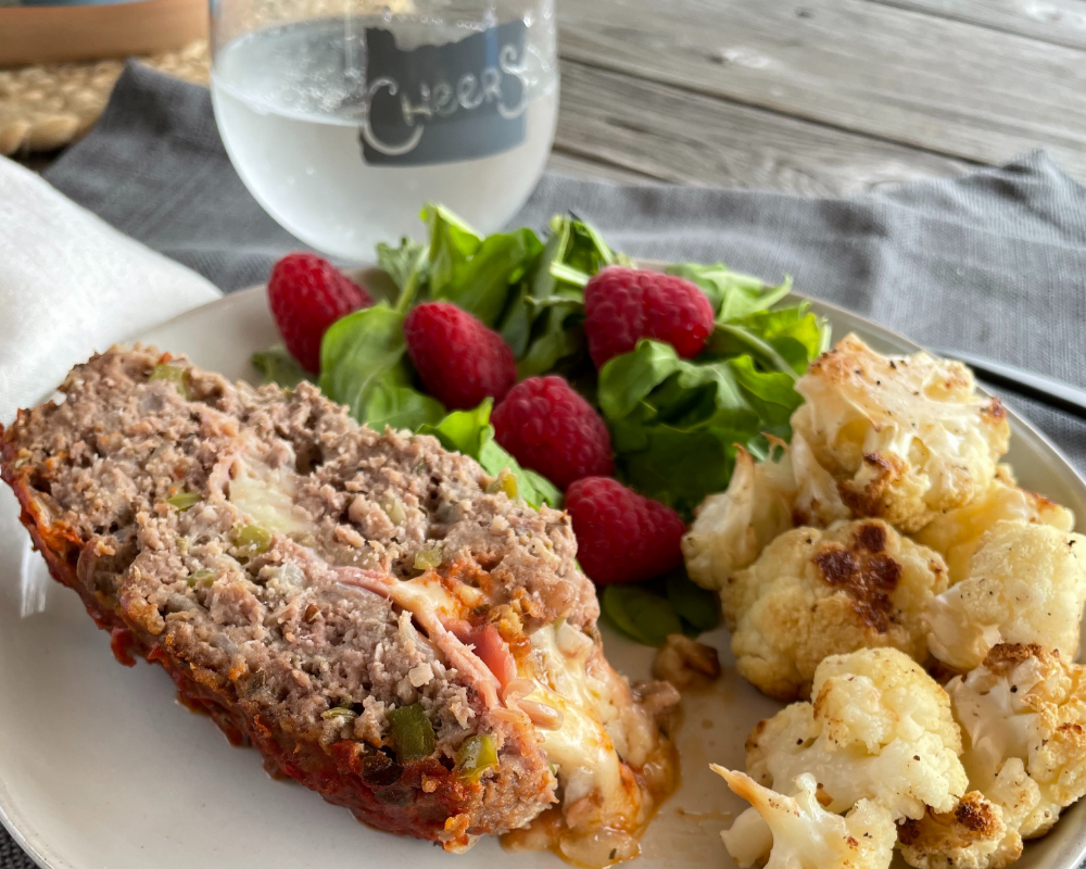 Pizza Meatloaf (GF/low carb)